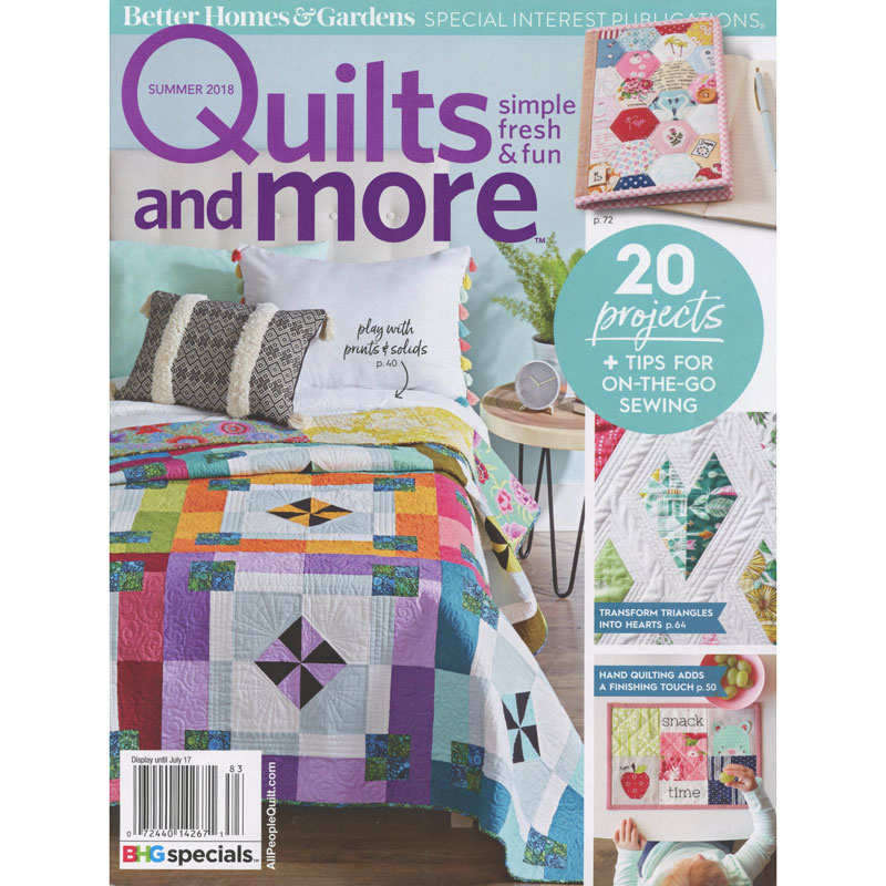 Wonderful Better Homes And Garden Quilts And More Summer 2018