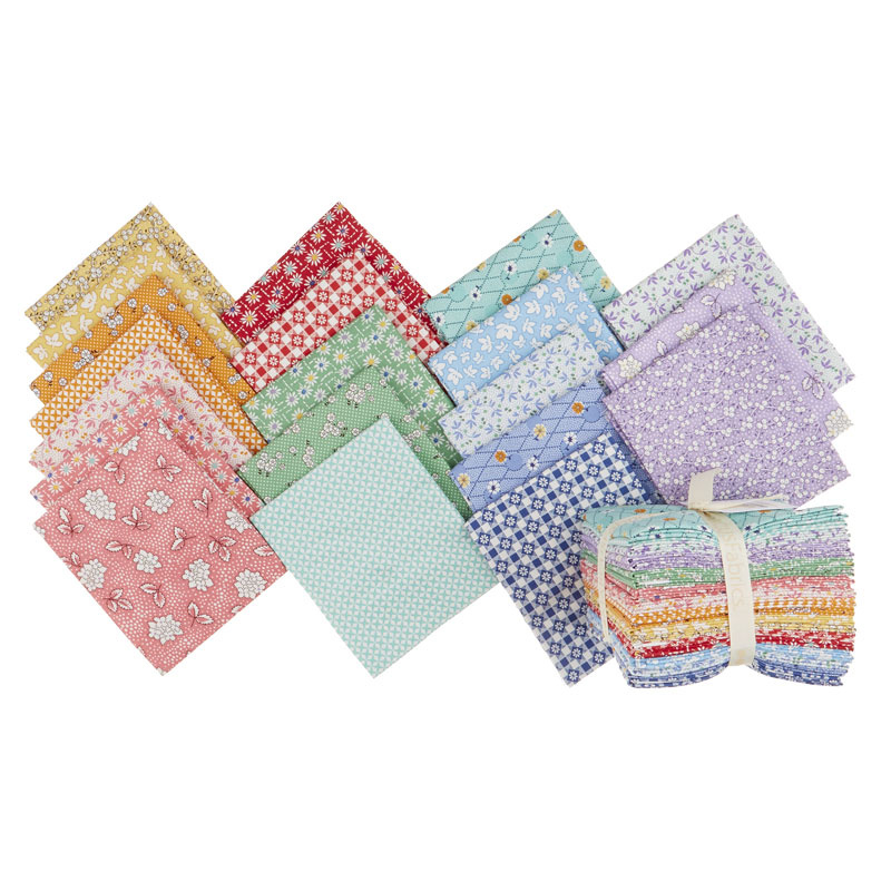 Aunt Grace's Flower Pots Fat Quarter Bundle