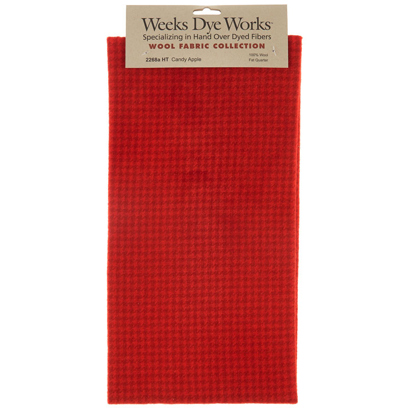 Weeks Dye Works Hand Over Dyed Wool Fat Quarter - Houndstooth Candy Apple