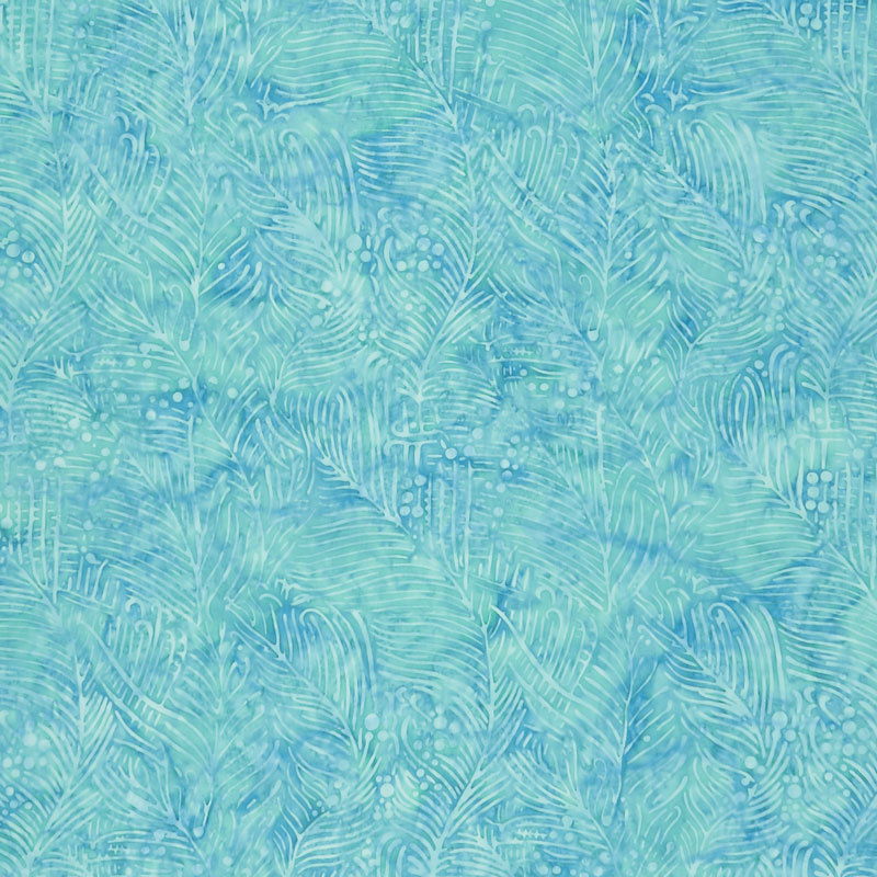 Magical Reef Batiks - Bubble Seaweed Aquamarine Yardage