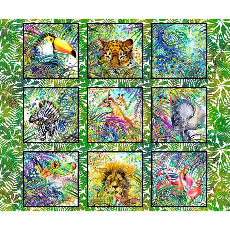 Safari - Animal Multi Digitally Printed Panel