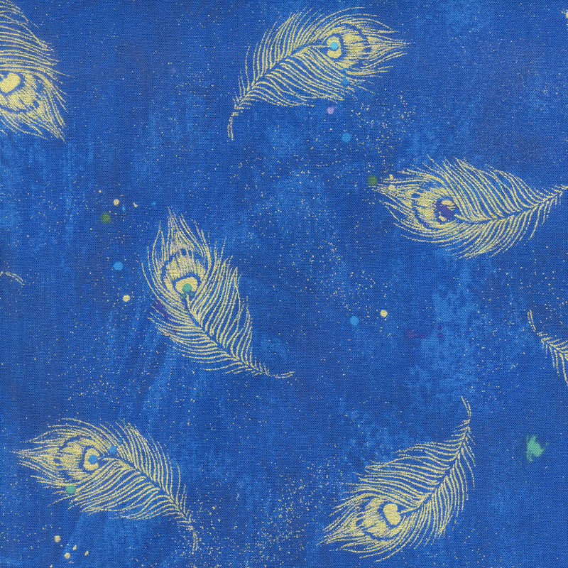 Moonlight Plume - Moonlight Feathers Royal Metallic Yardage