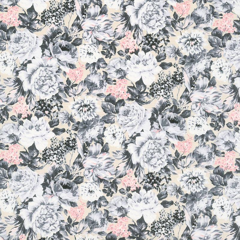The Emporium Collection - Wild Bloom Pink Gray Yardage