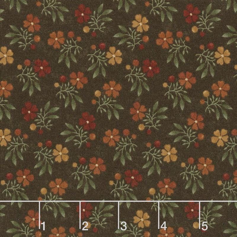 Nature's Glory - Fall Bouquet Brown Yardage