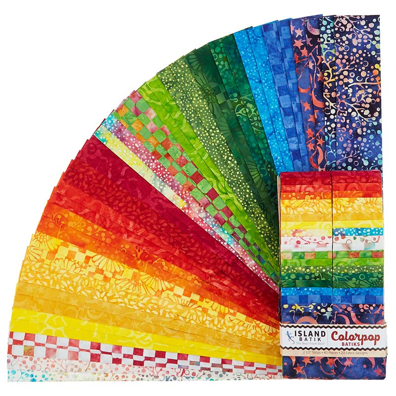 Colorpop Batiks Strips