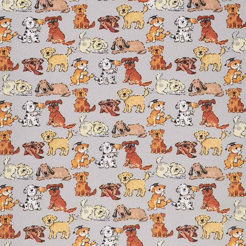 Comfy Flannel® - Playing Dogs Gray