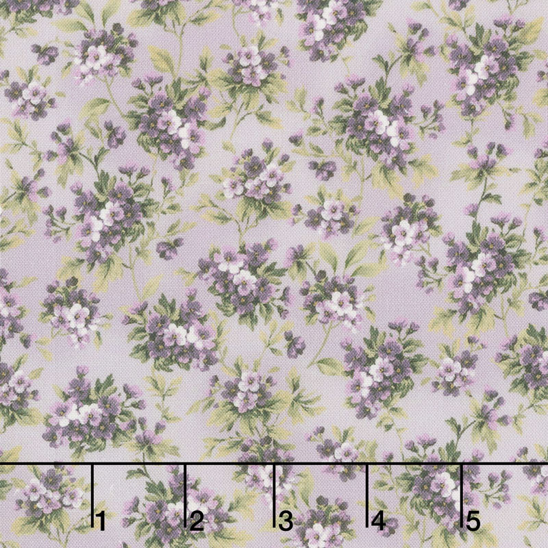 Meredith - Flower Clusters Purple Yardage