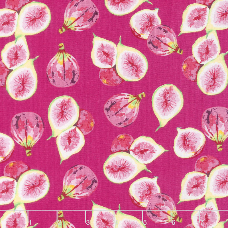 Fruitful Pleasures - Figs Fuchsia Yardage