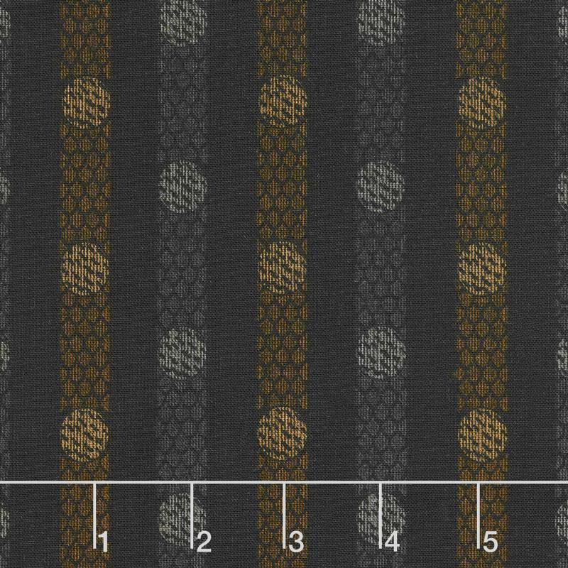 Itty Bitty - Textured Dots Black Yardage