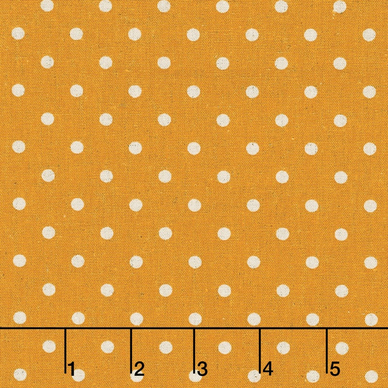 Linen Mochi Dot - Dot Golden Wheat Linen Yardage