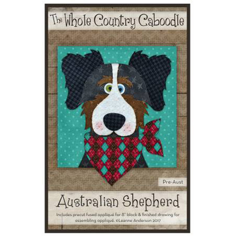 From The Whole Country Caboodle NEW SHEEPDOG PRE-CUT PRE-FUSED APPLIQUE KIT