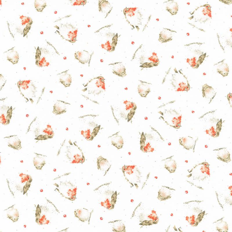 Warm Wishes - Little Birdies Ultra White Yardage