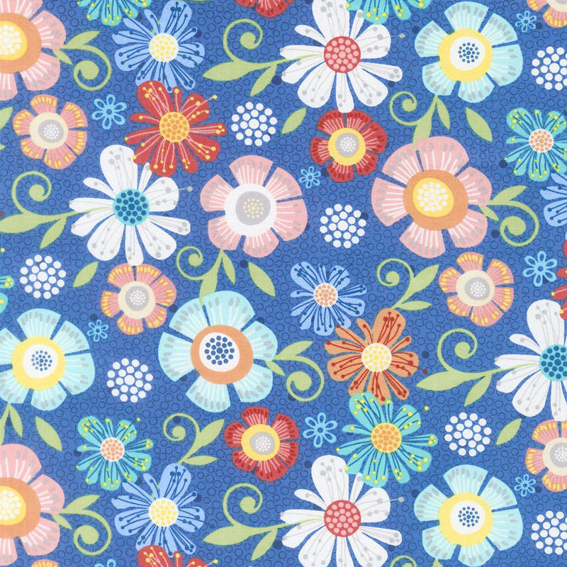 Home Grown - Floral Navy Yardage