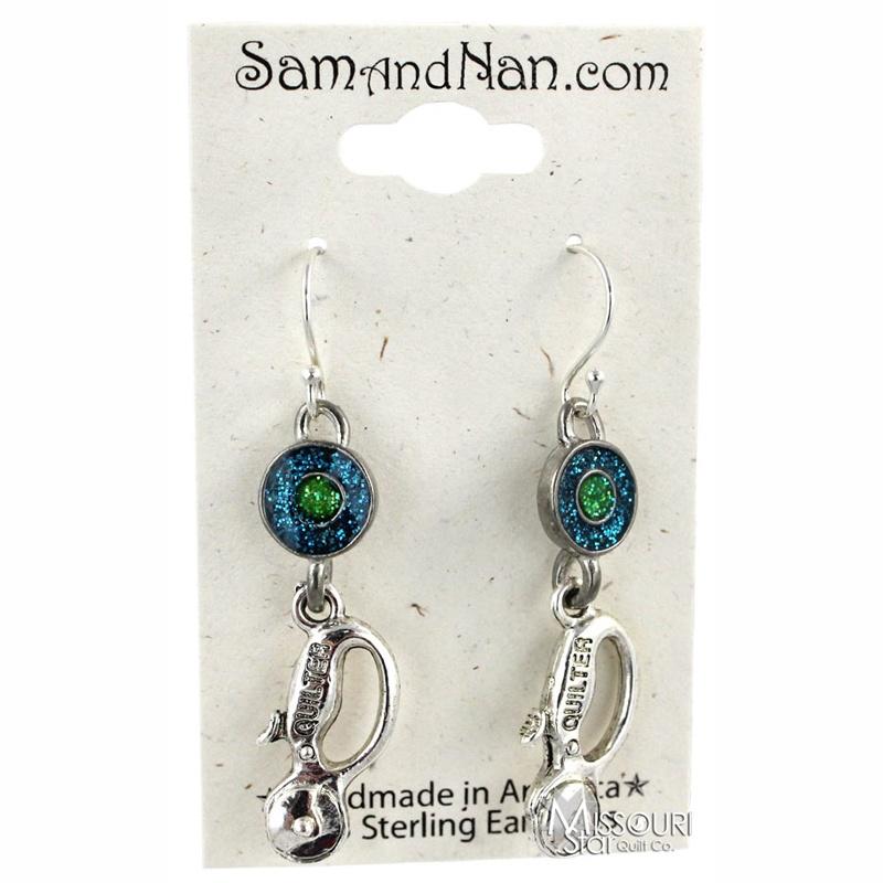 Green Cutter Earrings