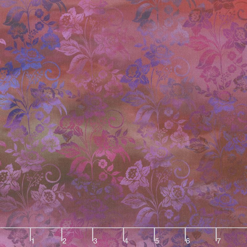 Diaphanous - Enchanted Vines Magenta Digitally Printed Yardage