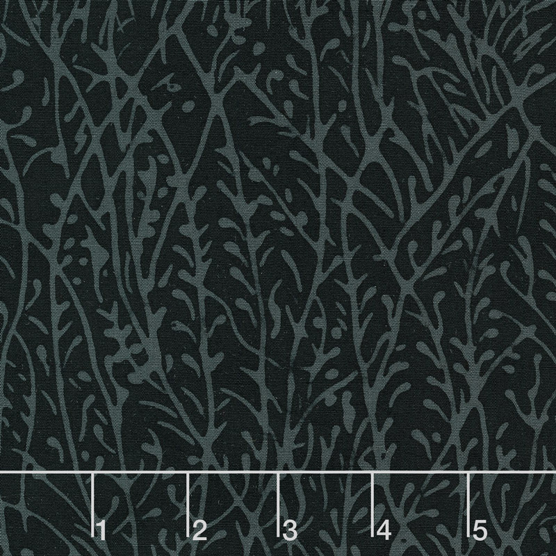 Black Beauty Batiks - Grass Black & Gray Yardage