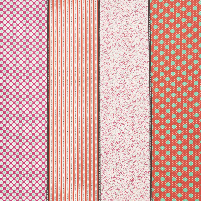 Looking Forward - Lollies Pink Multi Yardage