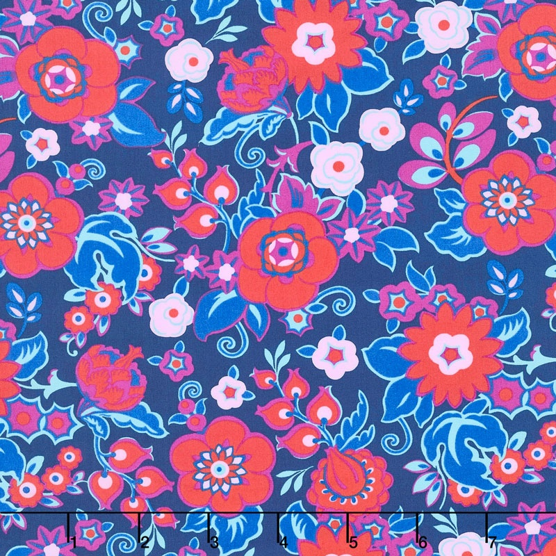 Soul Mate - Grand Bouquet Cherry Yardage