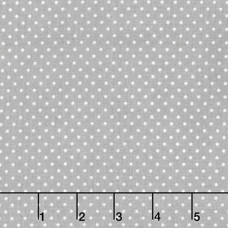Swiss Dot - White Swiss Dot on Gray