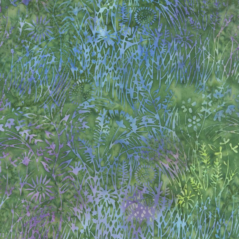 Enchanted Forest Batiks - Wildflower Mardigras Yardage