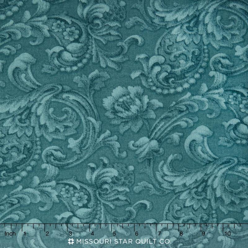 Mary's Blenders - Scroll Dusty Blue 108