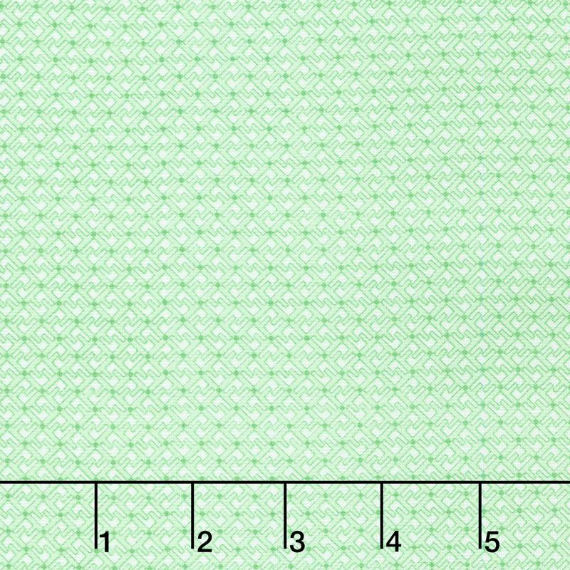 Adeline - Geometric Green Yardage