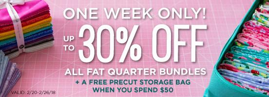 Up to 30% off Fat Quarter Bundles