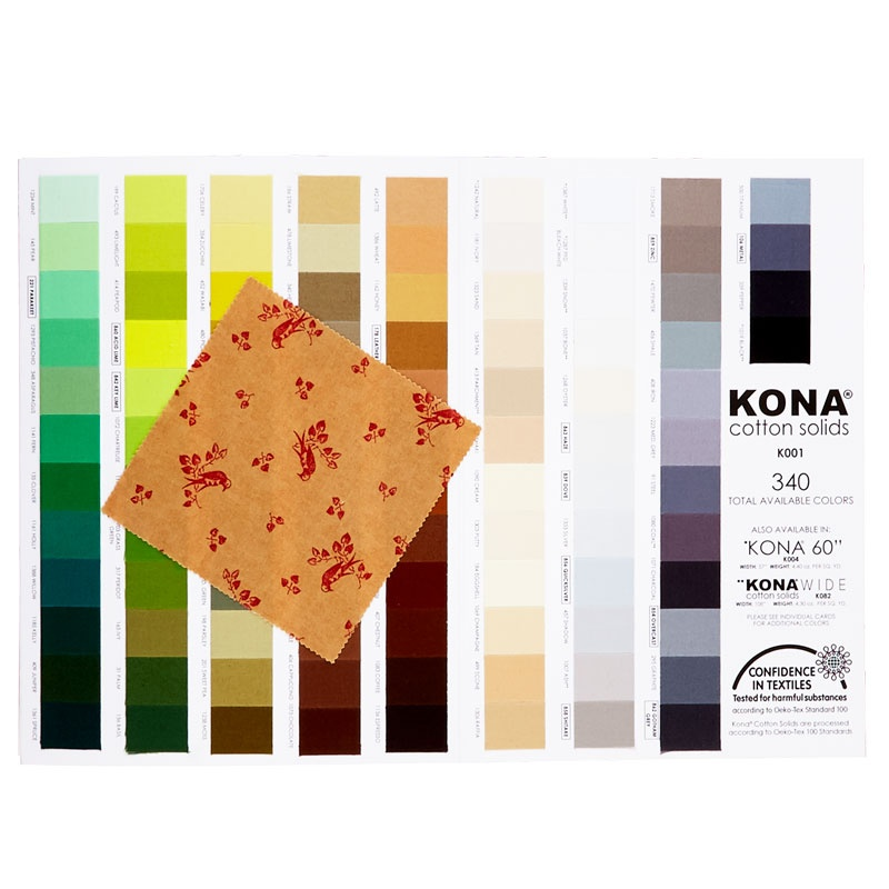 Kona Cotton Solids New 340 Color Card