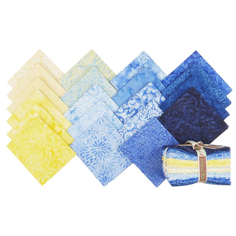 French Blue Batiks Fat Quarter Bundle