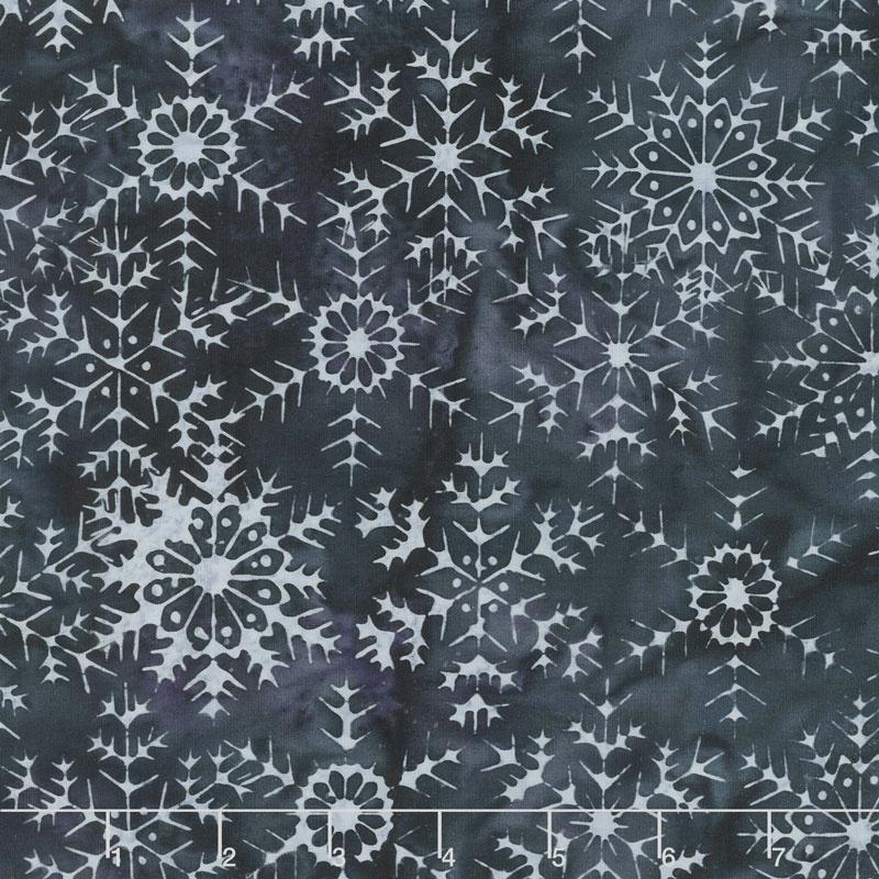 Snowberry Batiks - Large Snowflake Blackberry Yardage
