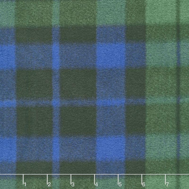 Winterfleece Prints Plaids and Checks - Blackwatch Plaid Multi Fleece Yardage