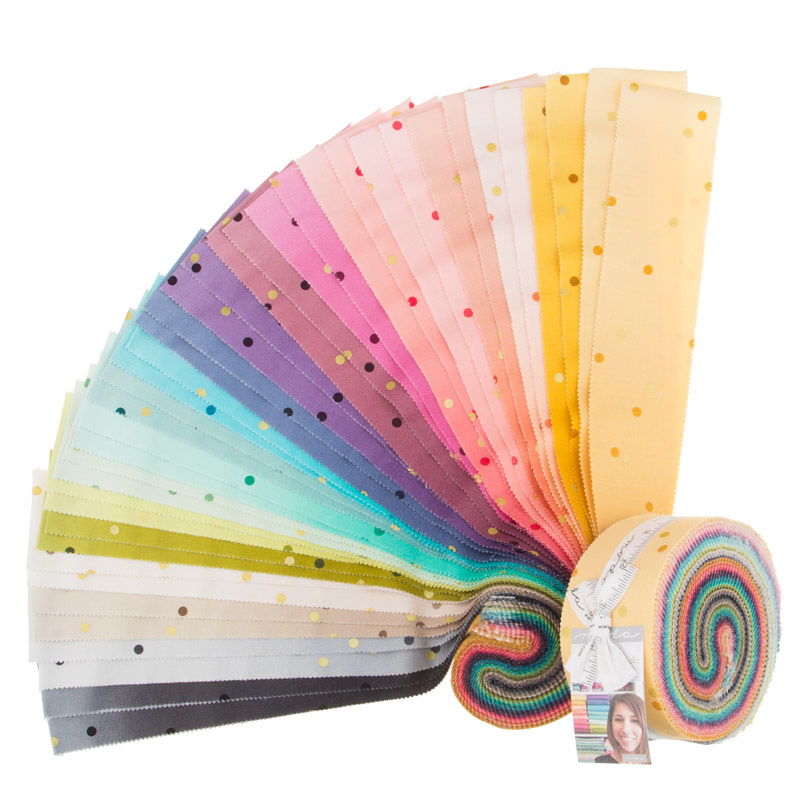 Ombre Confetti Metallic Jelly Roll