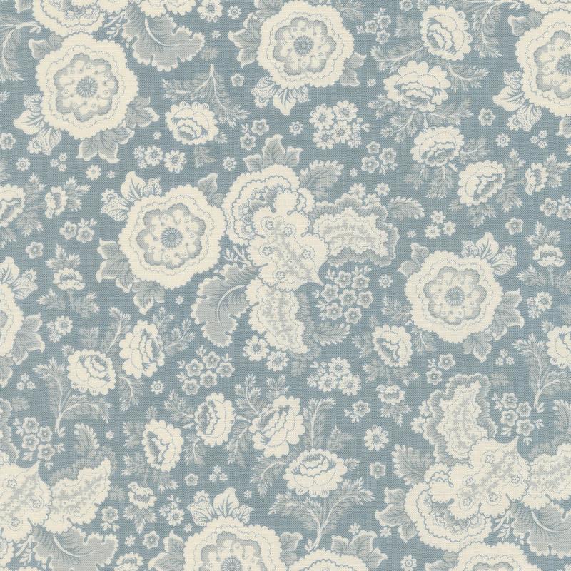 Regency Sussex - Chichester Circa 1800 Oval Room Blue Yardage