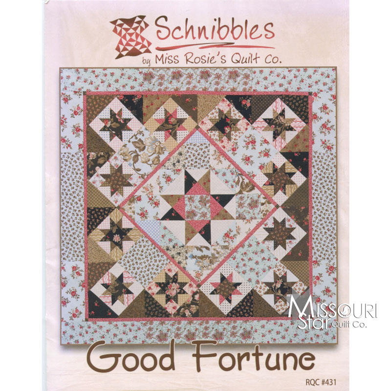 Good Fortune Mini Quilt  Pattern By Carrie Nelson for Miss Rosie's Quilt Co. - SchnibblesSKU# MR 431 -M