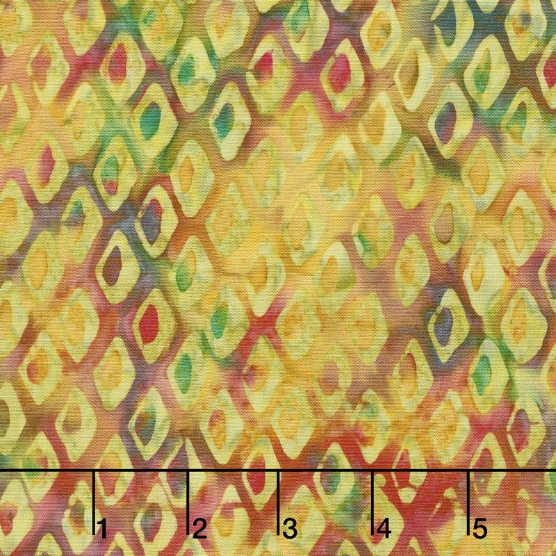Ocean Odyssey Batiks - Fish Scales Rainbow Yardage