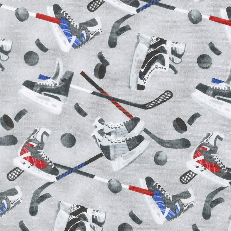 All Star Hockey - Skate and Stick Toss Gray Yardage