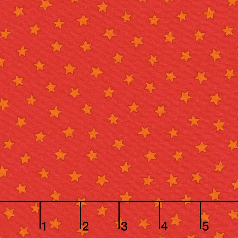 Pete the Cat - Stars Red Yardage