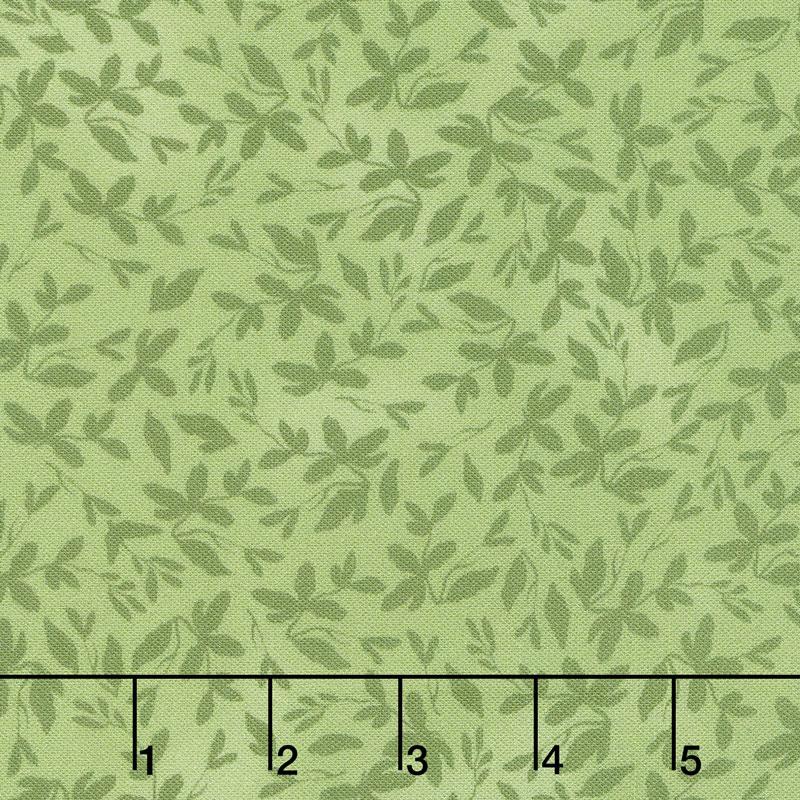 Farmhouse Rose - Leaves Green Yardage