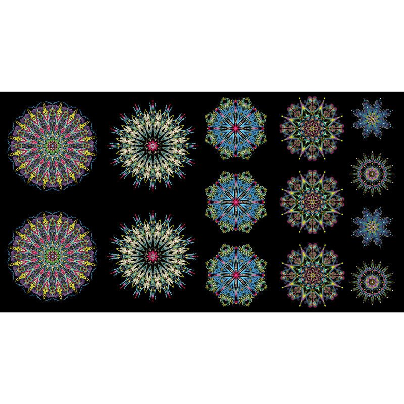 More is More - Medallions Blue Multi Panel