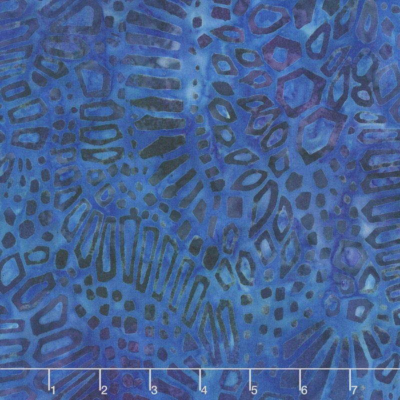Artisan Batiks - Artful Earth Shapes Blue Yardage