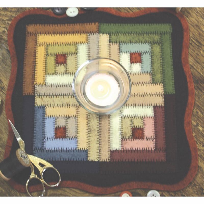 Log Cabin Block Candle Mat Kit