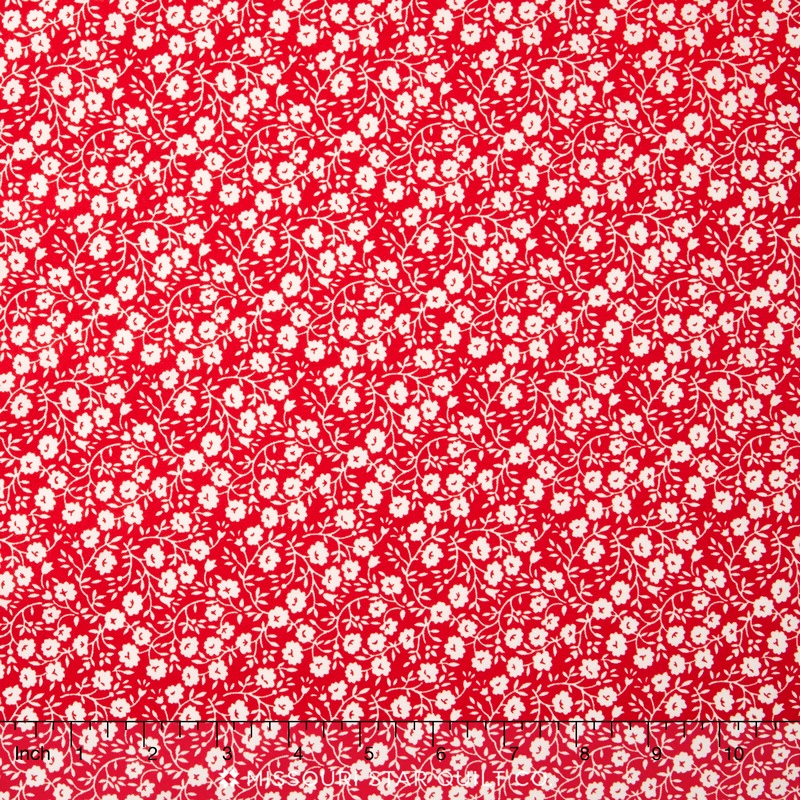 Hello Darling - Dainty Red Yardage
