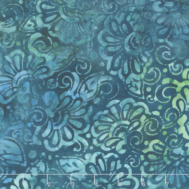 Artisan Batiks - Terrace Flowers Breeze Yardage