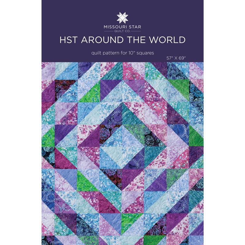 Half Square Triangles Around The World Quilt Pattern By Missouri