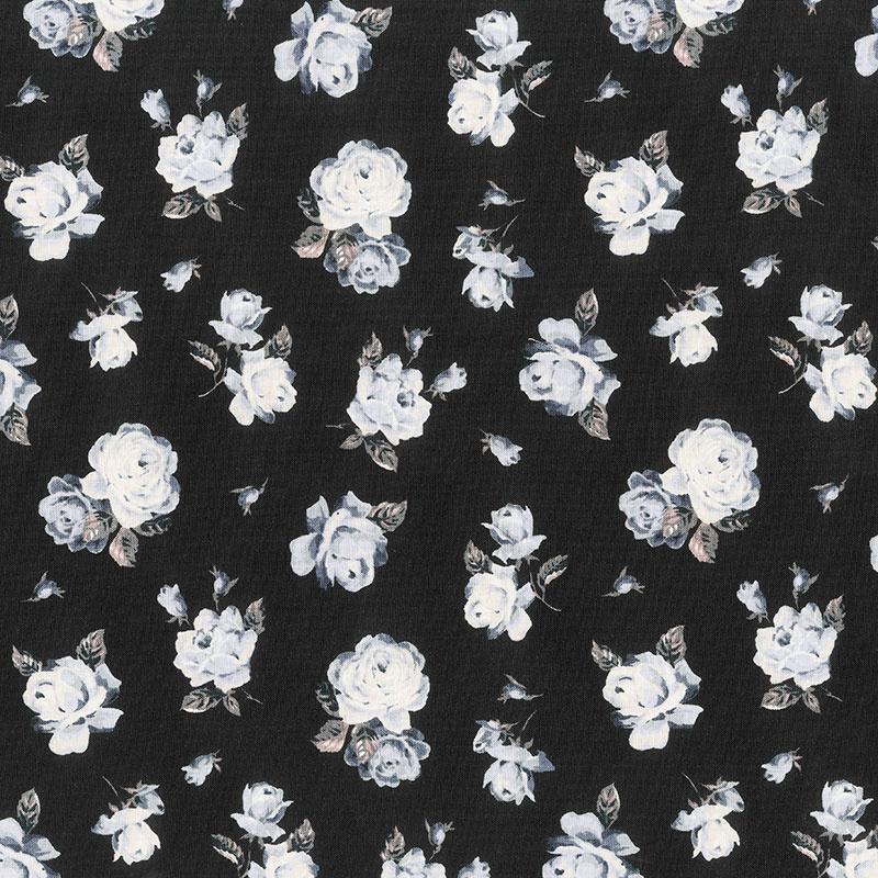 The Emporium Collection - Regent Rose Black Yardage