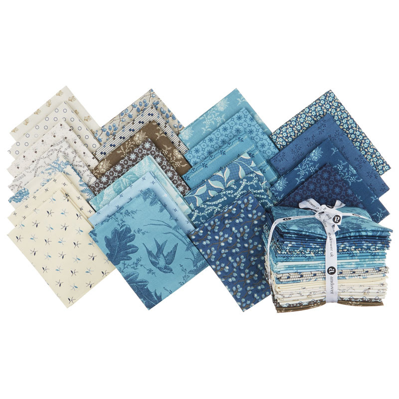 Royal Blue Fat Quarter Bundle Edyta Sitar Of Laundry