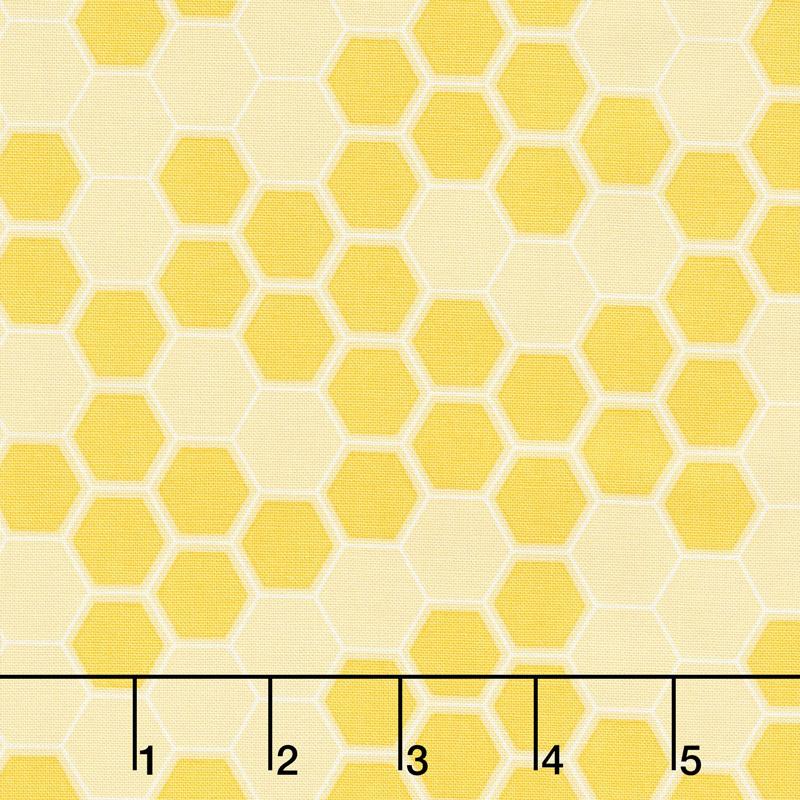 Honey Run - Honeycomb Yellow Yardage