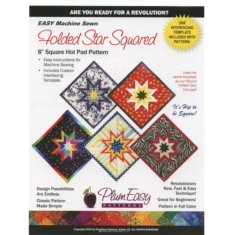 Folded Star Squared Hot Pad Pattern - Plum Easy Patterns