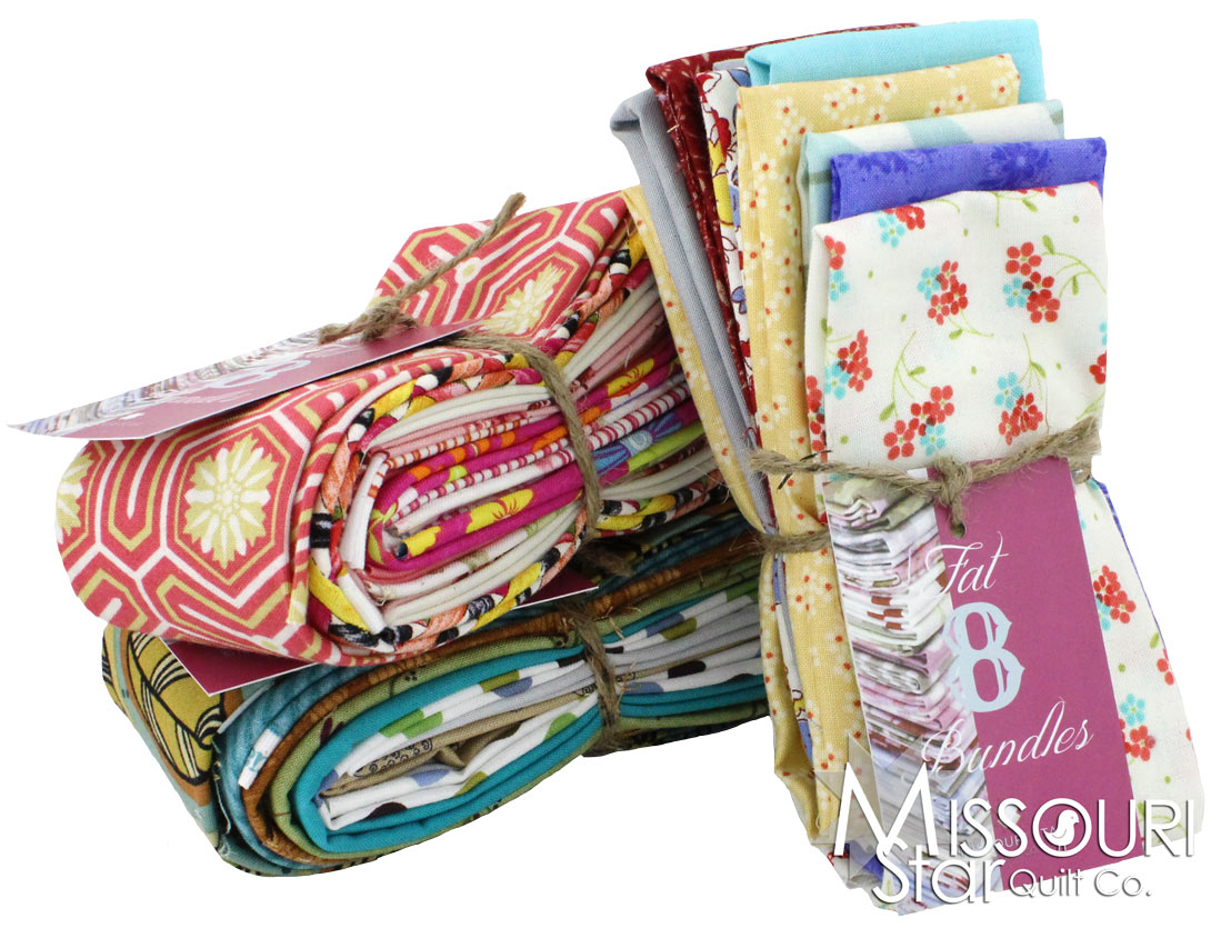 Mystery Fat Eight Bundle (8 pieces) from MSQC's Fabric Stash