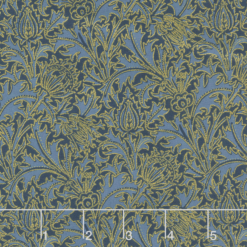 Morris Holiday 1897 - Thistle Indigo 108